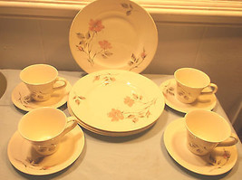 Vintage Knowles Dawn Rose Dinnerware Set Kalla.... - $83.16