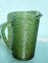 Vintage Anchor Hocking Soreno Avocado Green Bar... - $34.65