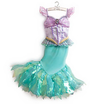 Ariel Little Mermaid Disney Store Costume Princess Size 7/8 Dress FAB NE... - $59.99