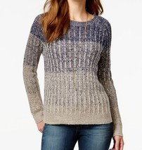 NWT Lucky Brand Blue Ombre Marled Crew Neck Pullover Sweater Sz XL $119 - $59.35