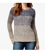 NWT Lucky Brand Blue Ombre Marled Crew Neck Pullover Sweater Sz XL $119 - €52,70 EUR