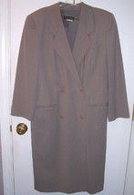 GIORGIO ARMANI BLACK LABEL Beige Taupe Wool Double Breasted Coat Sz 36 U... - $128.70