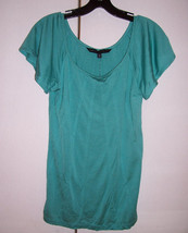 NWT Marc by Marc Jacobs Turquoise Blue Spun Silk Pin Tucked Top Blouse S... - $64.35
