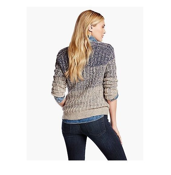 NWT Lucky Brand Blue Ombre Marled Crew Neck Pullover Sweater Sz XL $119