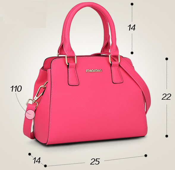 Mixed Color Women Leather Shoulder Bags New Fashion Tote Bags Handbags Y327-1