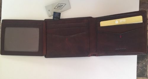 Fossil Men's Brown Beams Traveler Wallet