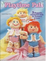 Playtime Pals Dolls Crochet Pattern~RARE~OOP - $24.99