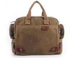Canvas Large Shoulder Bags Men';s Large Messenger Bag Free Shipping 4 Color M340 - $45.99