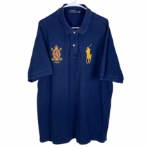 Polo Ralph Lauren Big Pony Crest Polo Shirt XLT Tall Navy Blue S/S Cotton 4 - $29.60