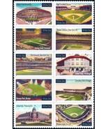 2001 34c Legendary Baseball Fields, Block of 10 Scott 3510-19 Mint F/VF NH - $4.88