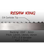 "3/4"" X 12-14-16mm Vari Tooth Pitch X 115"" Resaw King Carbide Tip Bandsaw... - $149.99"