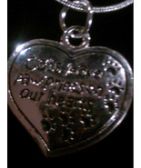 """""""Cats Leave Paw Prints on Our Hearts"""" Sterling Silver Pendant Necklace - $8.99"""