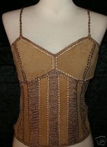 L NWT GYPSY Boho Bohemian Hippie Medieval Renaissance Belly Dancing Leat... - $24.74