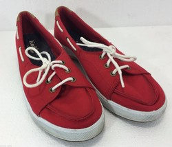 Keds Sport Women 6 US 3.5 UK 36 EU Red Boat Gym Shoes Sneakers - $35.77