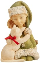 Enesco Heart of Christmas Elf with Kitty Figurine, 2.56-Inch - $22.67