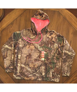 REALTREE Ladies Camo Hoodie With Pink Hood Lining Hunting NWT Size Large - $21.24