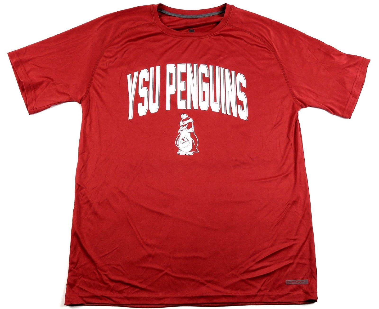 Youngstown State Penguins Men's Tee Shirt Fusion Fit Performance NCAA Licensed