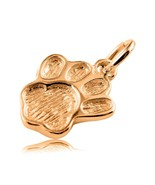 10K Genuine Solid Yellow GOLD Paw Print Charm/Pendant - $68.31