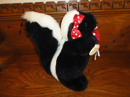 Ganz Heritage 1990 SKUNK with Rose Leather Nose & Ears 9 inch - $37.53