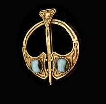 Vintage Kilt brooch Scottish dagger Ireland lapel pin Celtic Love Loyalt... - $65.00