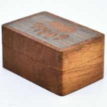 Northwoods Wooden Parquetry Country Rustic Cabin Bear Paw Mini Trinket Box image 3