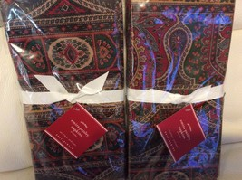 Pottery Barn Set of 8 Emira Paisley Napkins NWT... - $48.23