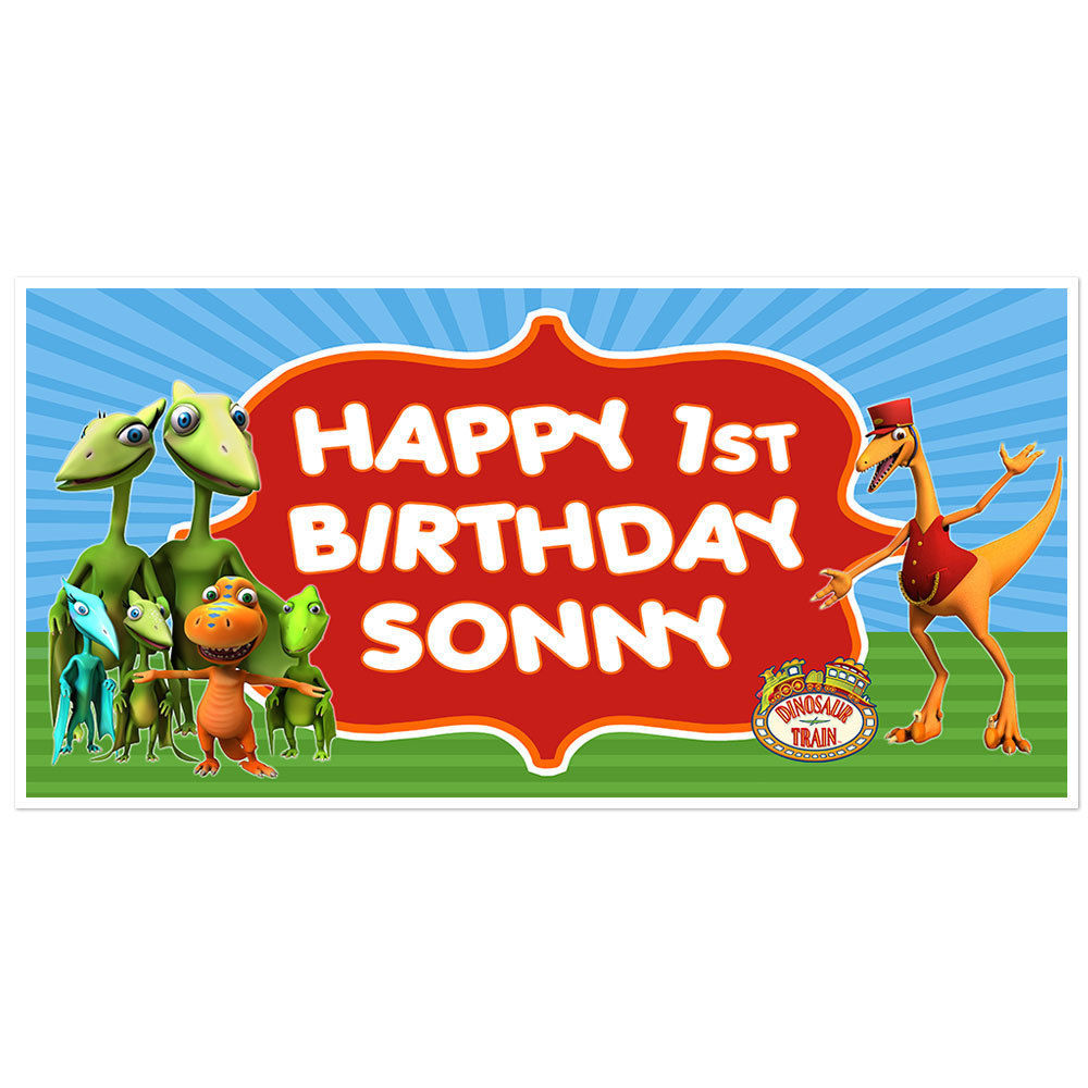 Dinosaur Train Birthday Banner Personalized and 50 similar items