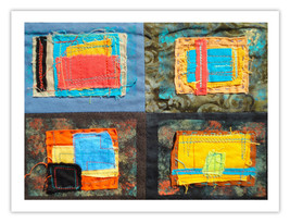 """Lilly Geometric Textile Art Series Reproduction Print """"Loose Ends, Two"""" ... - $24.95"""