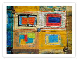 "Lilly Geometric Textile Art Series Reproduction Print ""Loose Ends, Four"" by arti - $24.95"