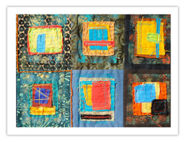 """Lilly Geometric Textile Art Series Reproduction Print """"Loose Ends, Thirt... - $24.95"""
