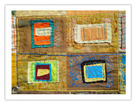 """Lilly Geometric Textile Art Series Reproduction Print """"Loose Ends, Seven... - $24.95"""