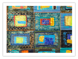 """Lilly Geometric Textile Art Series Reproduction Print """"Loose Ends, Three... - $24.95"""