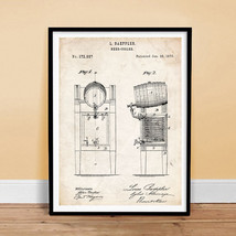 "Beer Keg Cooler Poster 18x24"" 1876 Beer Brewing Invention Patent Art Print (Free - $24.99"