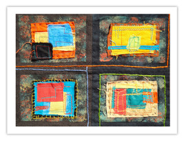 "Lilly Geometric Textile Art Series Reproduction Print ""Loose Ends, Nine"" by arti - $24.95"