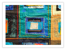 """Lilly Geometric Textile Art Series Reproduction Print """"Loose Ends, Twelv... - $24.95"""