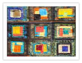 "Lilly Geometric Textile Art Series Reproduction Print ""Loose Ends, Eleven"" by ar - $24.95"