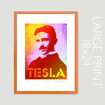 TESLA Nicola Pop Art Original Limited Edition 18x24 Art Print Signed by ... - $29.95