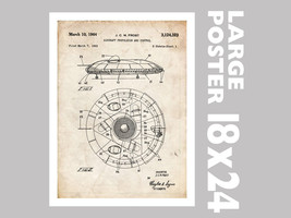 "Flying Saucer Poster 18x24"" 1964 Patent Art Print (Free Shipping) - $24.99"
