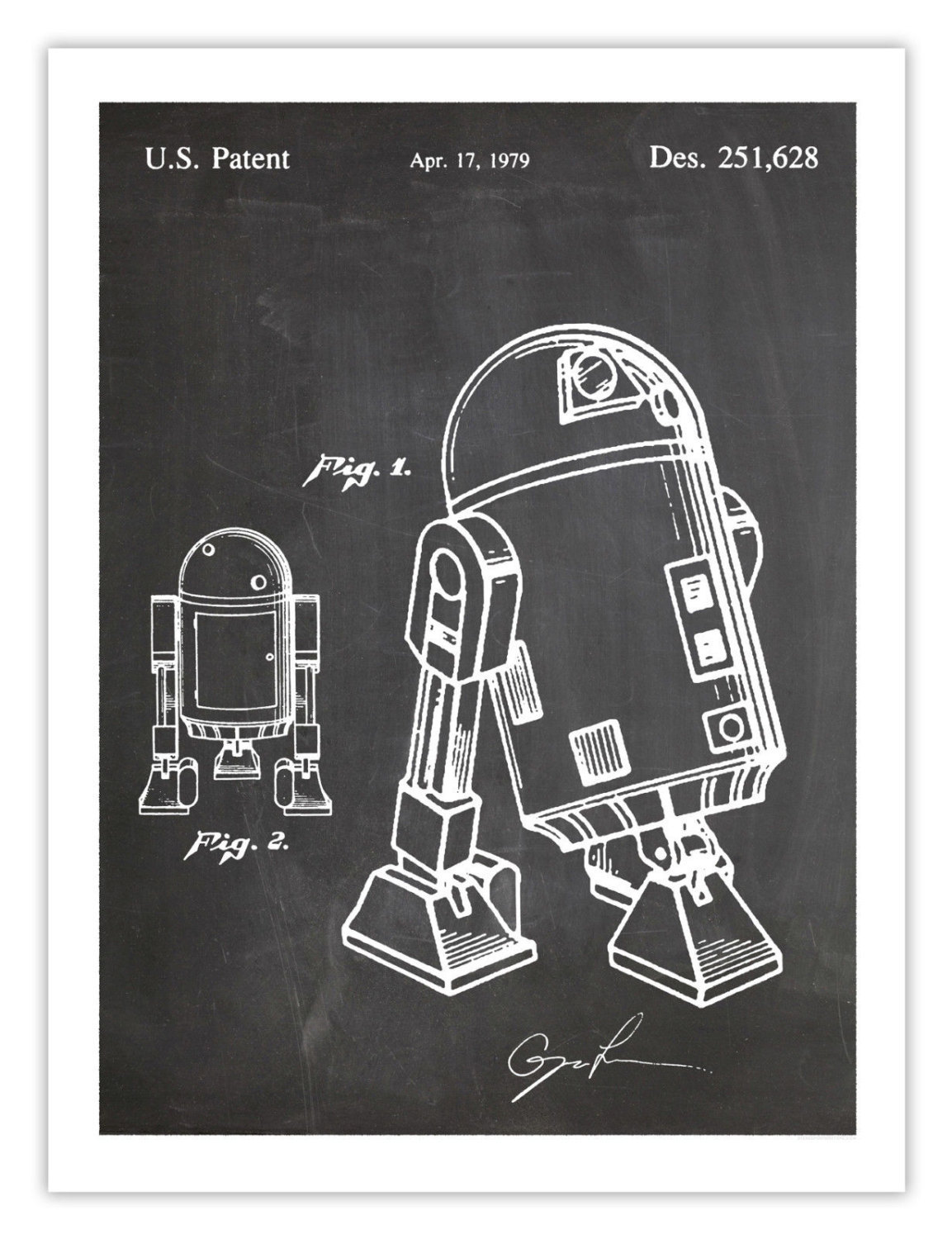 R2D2 Sizes A4 A3 A2 Star Wars Original Limited Edition Pop Art Print