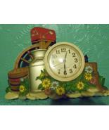 Burwood Productions 1983 Wall Clock Kitcsh Mail  Flowers Plastic - $22.76