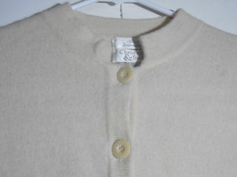 Christopher Banks Cream Sweater Cardigan Hand Embroidered Jacket Floral - $27.67