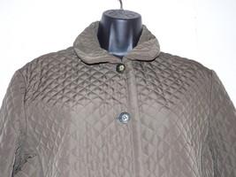 Jones New York Medium Size Jacket Brown Bronze Quilted Coat - $49.49