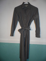 Vintage Small  Medium Gray Coat  Shift Dress Tunic Coat - €47,79 EUR