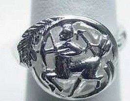 LOOK SAGITTARIUS Zodiac Astrology sign Jewelry ring Sterling Silver .925 The Arc - $18.75
