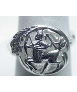 LOOK SAGITTARIUS Zodiac Astrology sign Jewelry ring Sterling Silver .925... - $18.30