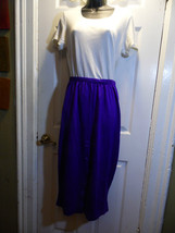 Skirt Size 14 Long Knit  Purple  Skirt CR & Me Plus Button Detail USA - $22.76