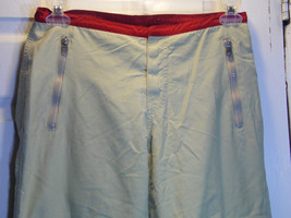 Pant Slacks Abrocrombi  and Fitch Tan Red Cargo Pants Zippers Size 4 - $24.75
