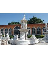 MAGNIFICENT WHITE MARBLE CHERUBS/ FIGURAL LARGE GARDEN FOUNTAIN.19'FT TALL - $78,000.00