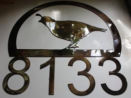 Quail Address Sign Custom - $32.66