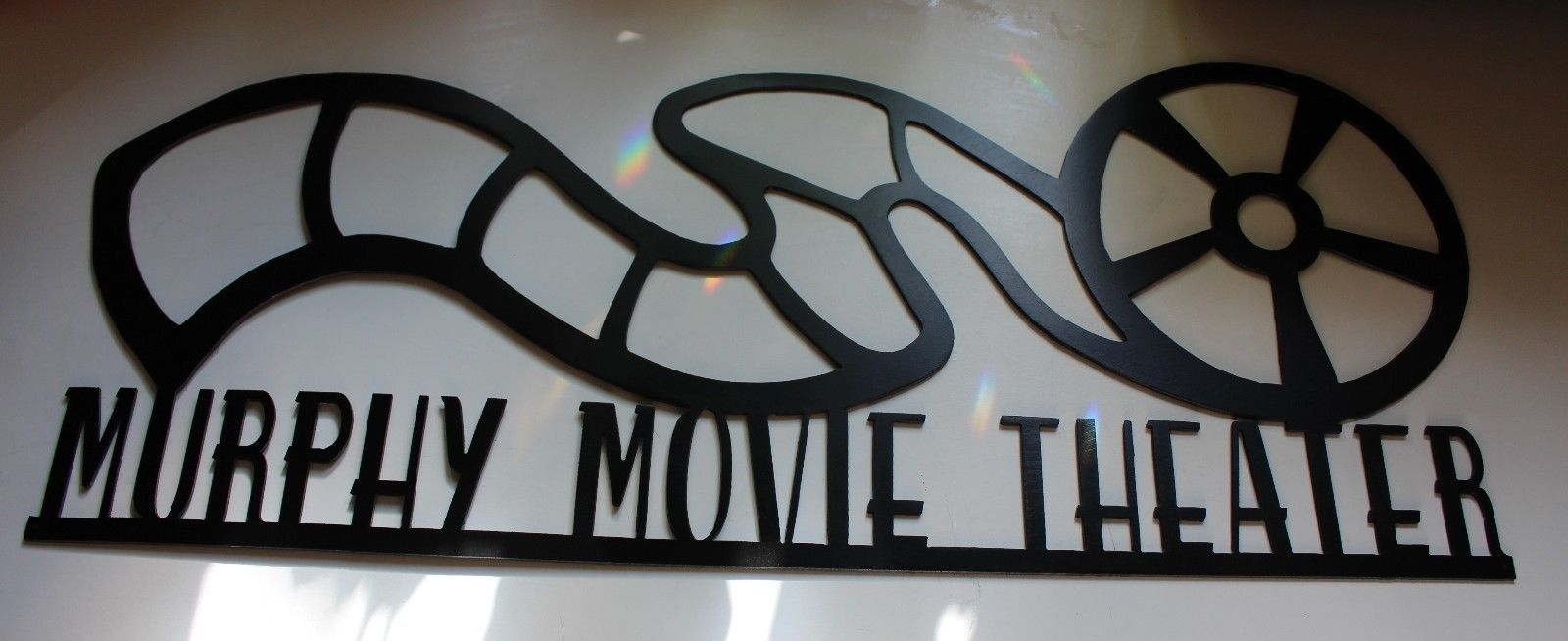 Personalized Metal Wall Art Home Decor Movie Theater Reel